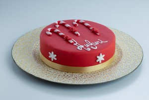 Almond Cake - Candy Cane