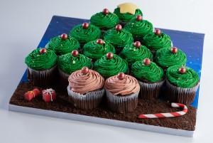 Christmas Tree Cupcake Set