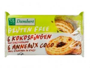 Damhert Gluten Free Coconut Biscuits Fruit Filling