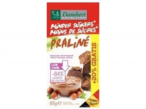 Damhert  Less Sugars Chocolat Tablet - Praliné