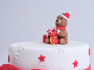 Christmas Cake - Christmas Teddy