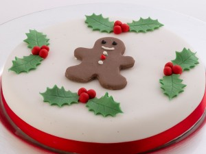 Almond Cake Gingerbread Man