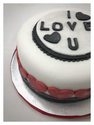 Valentines I Love You Chocolate Cake