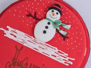 Almond Cake Snowman