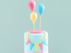 Birthday Cake - Balloons