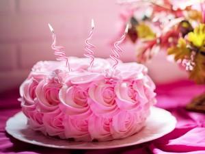 Birthday Cake - Cream Roses