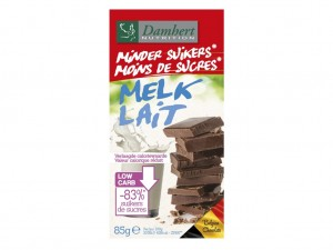Damhert Less Sugars Chocolate Tablet - Milk