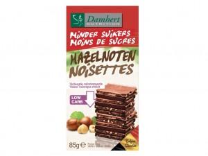 Damhert Less Sugars Chocolate Tablet - Hazelnuts