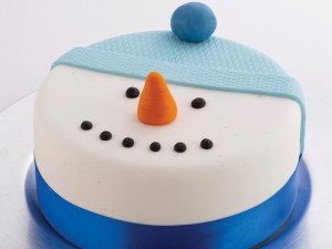 Christmas Fruit Cake - Snowman